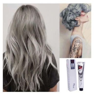 Light Silver Hair by Kingko 174 100ml Silver Ash Light Grey Hair Colour Permanent