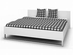 Ikea Lit 180x200 : lit 180x200 cm style coloris blanc vente de lit adulte conforama ~ Teatrodelosmanantiales.com Idées de Décoration