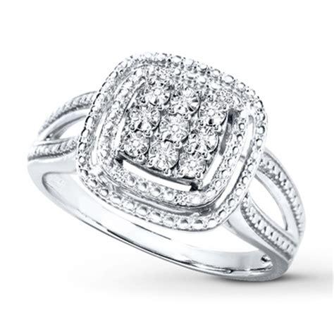 Diamond Ring Sterling Silver  Kay