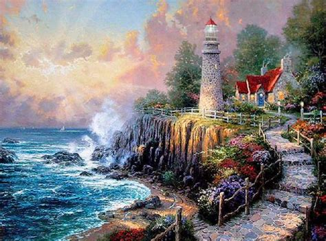 painter of light shangralafamilyfun shangrala s kinkade painter of