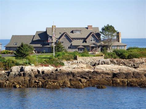 Bush Home At Walkers Point In Maine  Maine Pinterest