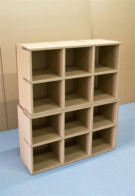 shelves home library cardboard furniture collection