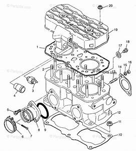 Polaris Snowmobile 1997 Oem Parts Diagram For Cylinder 440