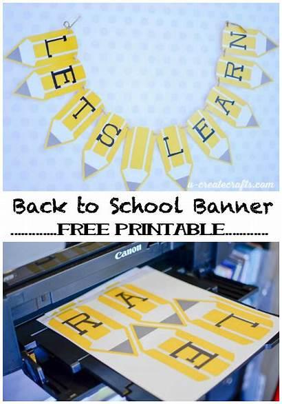 Banner Printable Pencil Teacher Classroom Teachers Diy