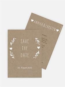 Save The Date Karte : save the date karte floral wreath kraftpapier ~ A.2002-acura-tl-radio.info Haus und Dekorationen