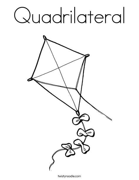 Coloring Quadrilaterals by Quadrilateral Coloring Page Twisty Noodle