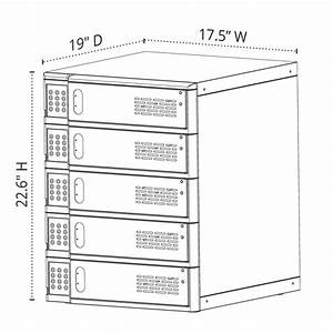 Luxor 5-bay Charging Locker For Mobile Devices