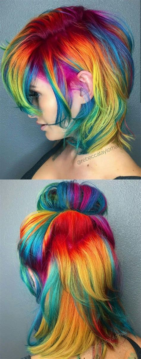 664 Best Bright Fun And Funky Hair Colors Images On