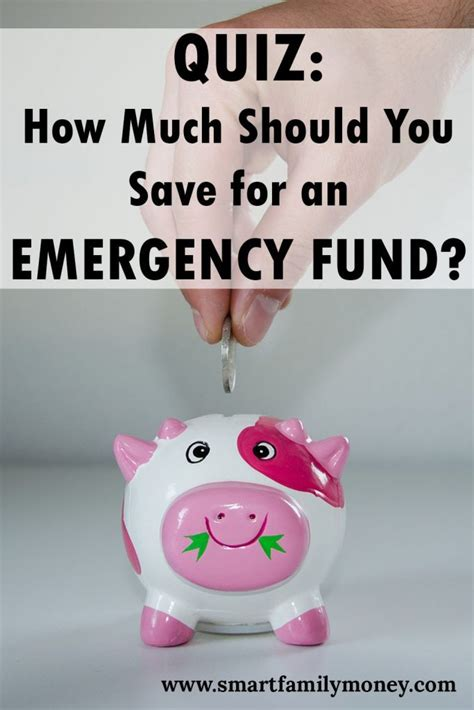 Quiz How Much Money Should You Save For An Emergency Fund