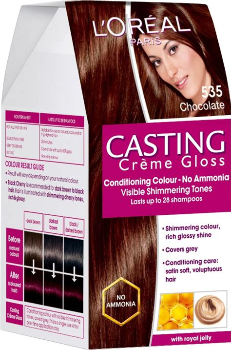 Glossy Black Hair Color by L Oreal Creme Gloss Hair Color Price In