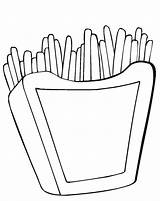 Fries Coloring French Mcdonalds Printable Hamburger Template Getcolorings Getdrawings Sketch sketch template
