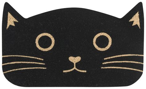 doormat cat black cat doormat