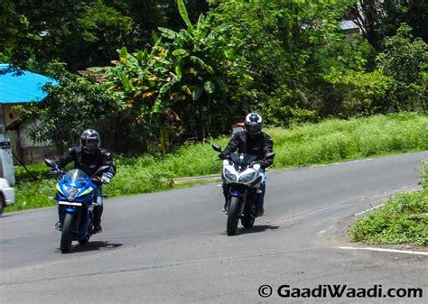 Suzuki Vs Yamaha by Yamaha Fazer Fi Vs Suzuki Gixxer Sf Comparison Review