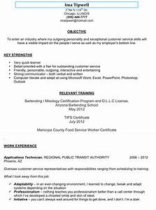 cocktail server resume cover letter