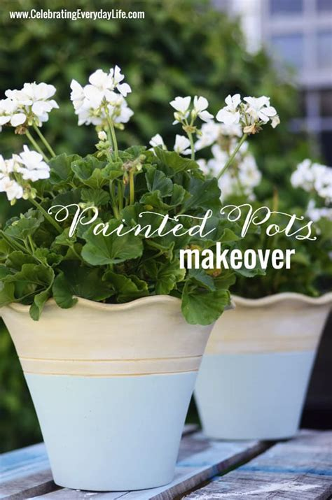painted terracotta flower pot makeover  annie sloan