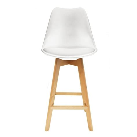 chaise de bar blanche chaise haute de bar design aléa déco
