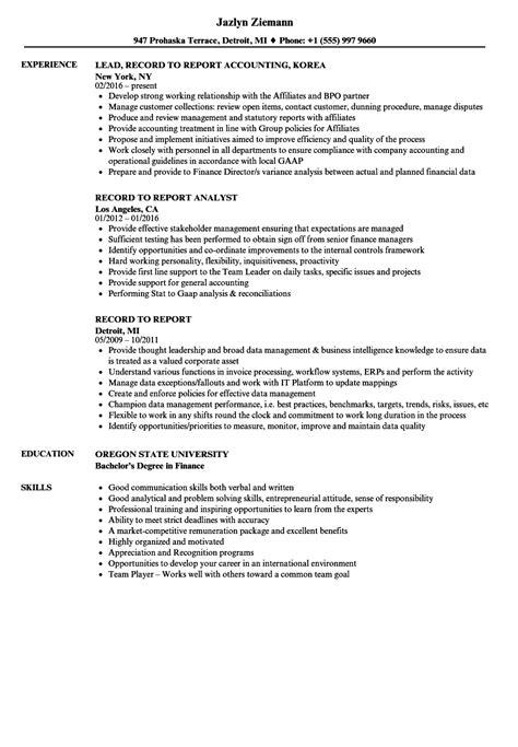 Records Resume by Record Resume Sles Velvet