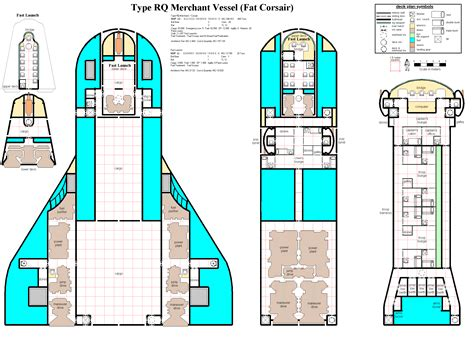 Traveller Ship Deck Plans by Small Large