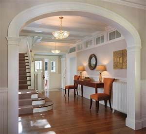 Interior arch designs for hall spaces traditional with