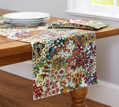 table runner pottery barn blossom print table runner pottery barn