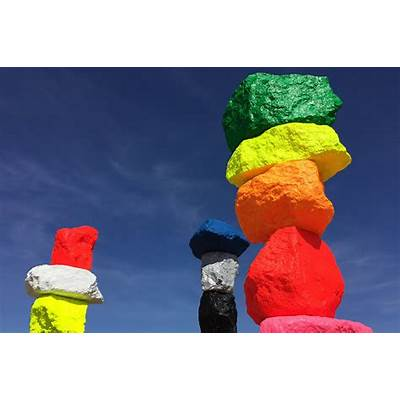 Seven Magic Mountains by Ugo Rondinone - Gessato Blog