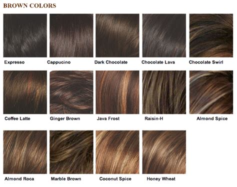 Brown Hair Colors Names by My Selah Salon 187 Color Chart