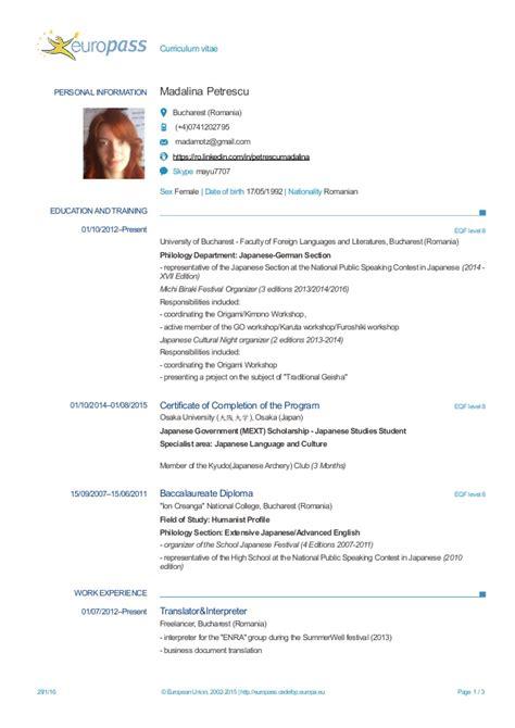 20473 europass curriculum vitae madalina petrescu cv europass