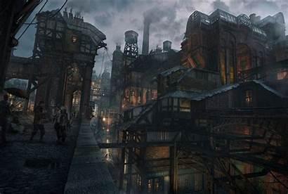 Fantasy Building Architecture Artwork Concept Overcast Pc