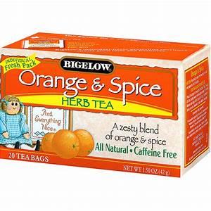 Bigelow  Herb Tea  Orange  U0026 Spice  Caffeine Free  20 Tea Bags  1 50 Oz  42 G