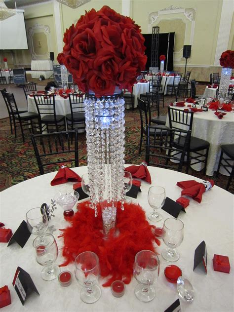 Red Rose Flower Balls Set The Mood Decor
