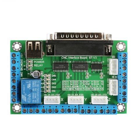5 axis breakout board for stepper motor driver cnc router sainsmart