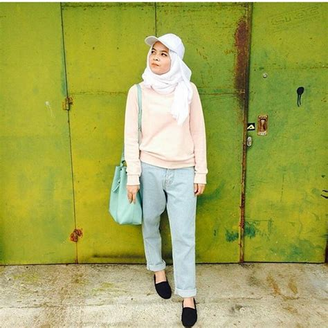 model baju hijab usia remaja  trendy fashionable