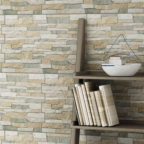 10 Textured Alps Stone Effect Wall Tiles  Victorian