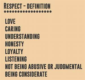 Respect – def... Respect Definition