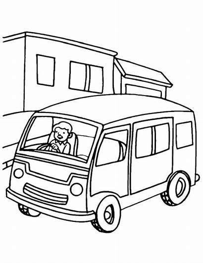 Van Metro Coloring Drawing Pages Getdrawings