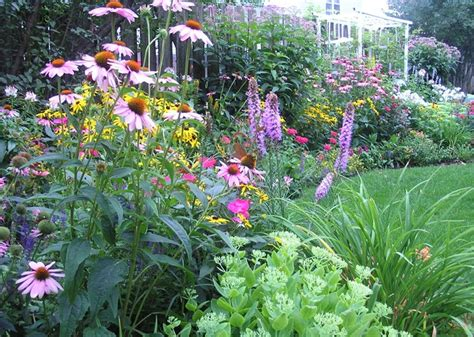 backyard perennial garden traditional landscape