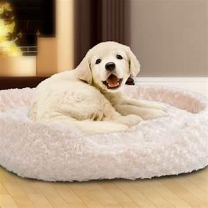 Round, Dog, Bed, Small, Cuddle, Round, Plush, Pet, Bed, -, Ivory, -, Walmart, Com