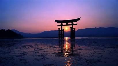 4k Japan Sunset Purple Evening Wallpapers Backgrounds