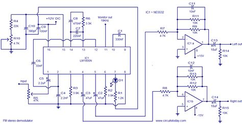 Stereo Demodulator Electronic Circuits