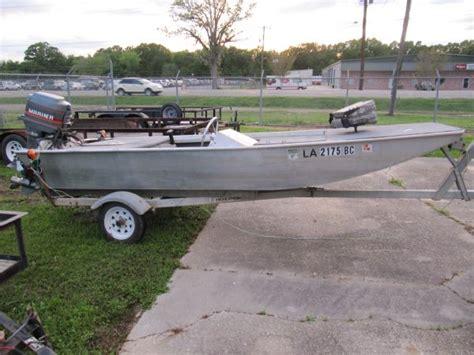 Homemade Jon Boat Trailer by Homemade All Welded Aluminum Boat W 50 Mariner Louisiana