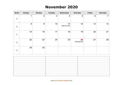 november   calendar tempplate  calendar