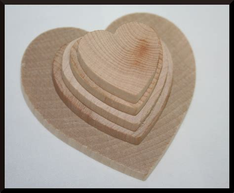 wooden heart diy wedding hearts guest book signing wood