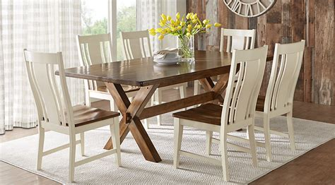 Beige, Brown & White Dining Room Furniture
