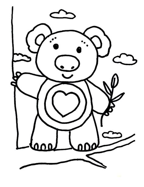 koala bear climbing tree coloring page color luna
