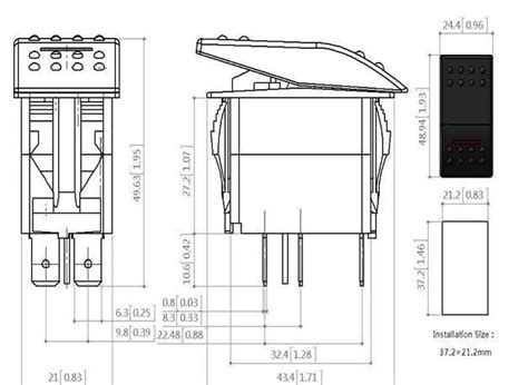 narva style roof led light bar rocker switch blue led 4x4