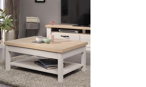table basse blanche et bois clair id 233 es de d 233 coration
