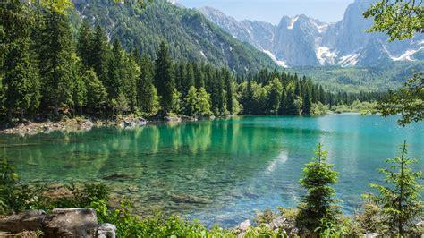 Fonds D'écran Montagne, Forêt, Arbres, Lac, Pierres