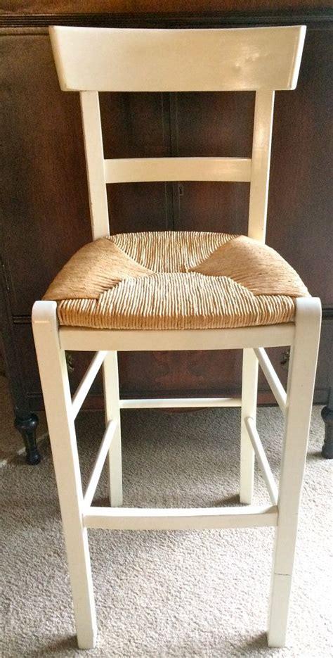 shabby country farmhouse style rush seat high