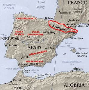 The Pyrenees Mountains Map and Details
