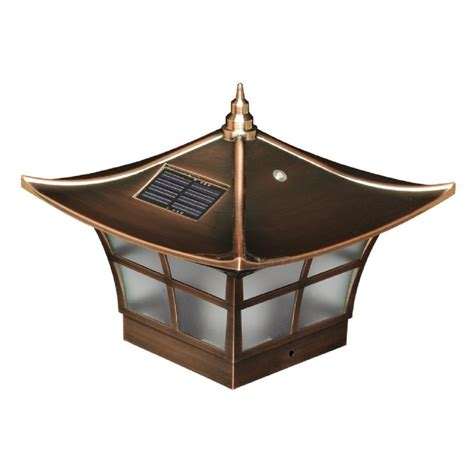 copper plated ambience solar post cap copper